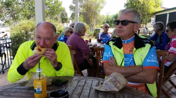 On the way to Kingston SE, we stopped off at Langhorne Creek for a ride to Milang for a late morning coffee/early lunch. We had some other riders, who joined us for this ride. Photo taken by Geoffrey.